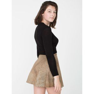 NWT American Apparel Suede Leather Circle Skirt